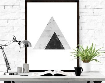 Geometric art, Triangle wall decal, Abstract Prints, Graphic art print, Triangle art, Download print, Print download, Triangle art print