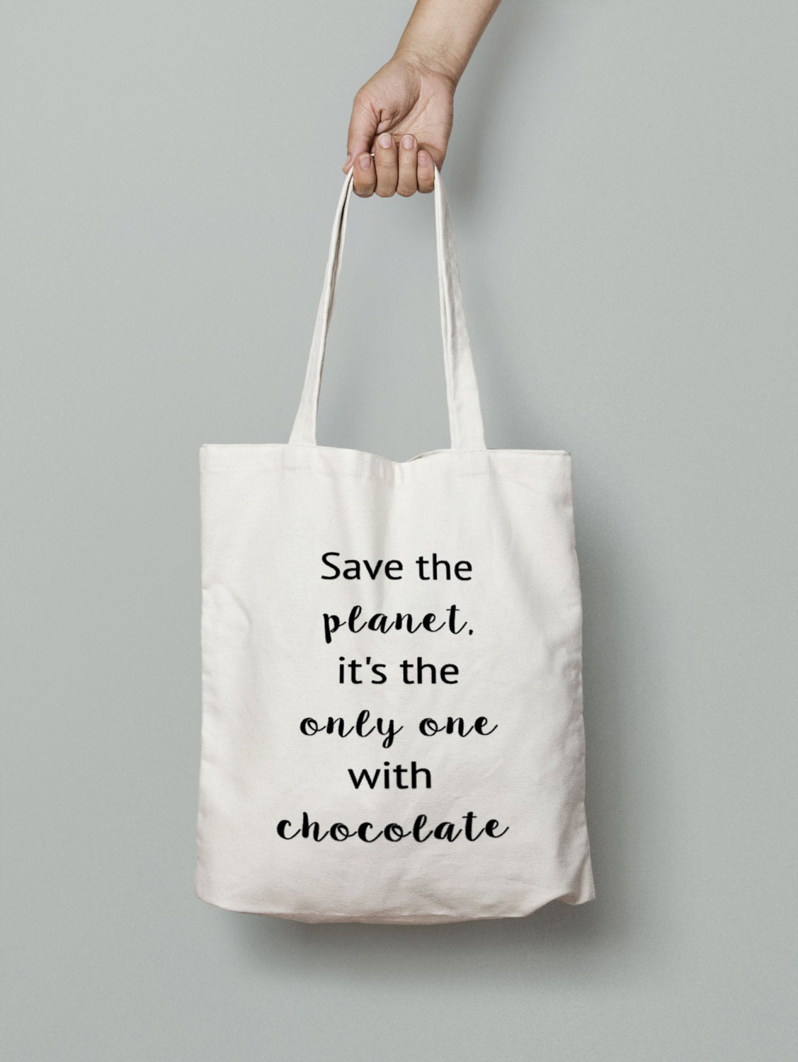 chocolate tote bag shopping tote bag canvas tote bag. Black Bedroom Furniture Sets. Home Design Ideas