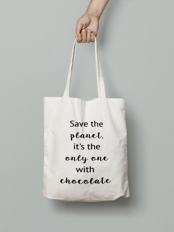 chocolate tote bag shopping tote bag canvas tote bag