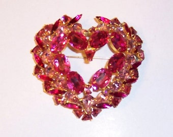 """Over-Sized Heart Brooch by David Mandel for """"The Show Must Go On"""""""