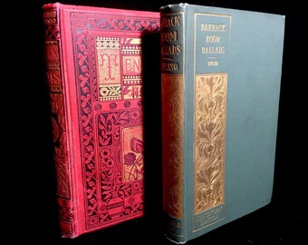 Set of Two Antique Poetry Books