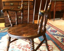 Antique Bentwood Smoking Chair Shabby Chic Victorian