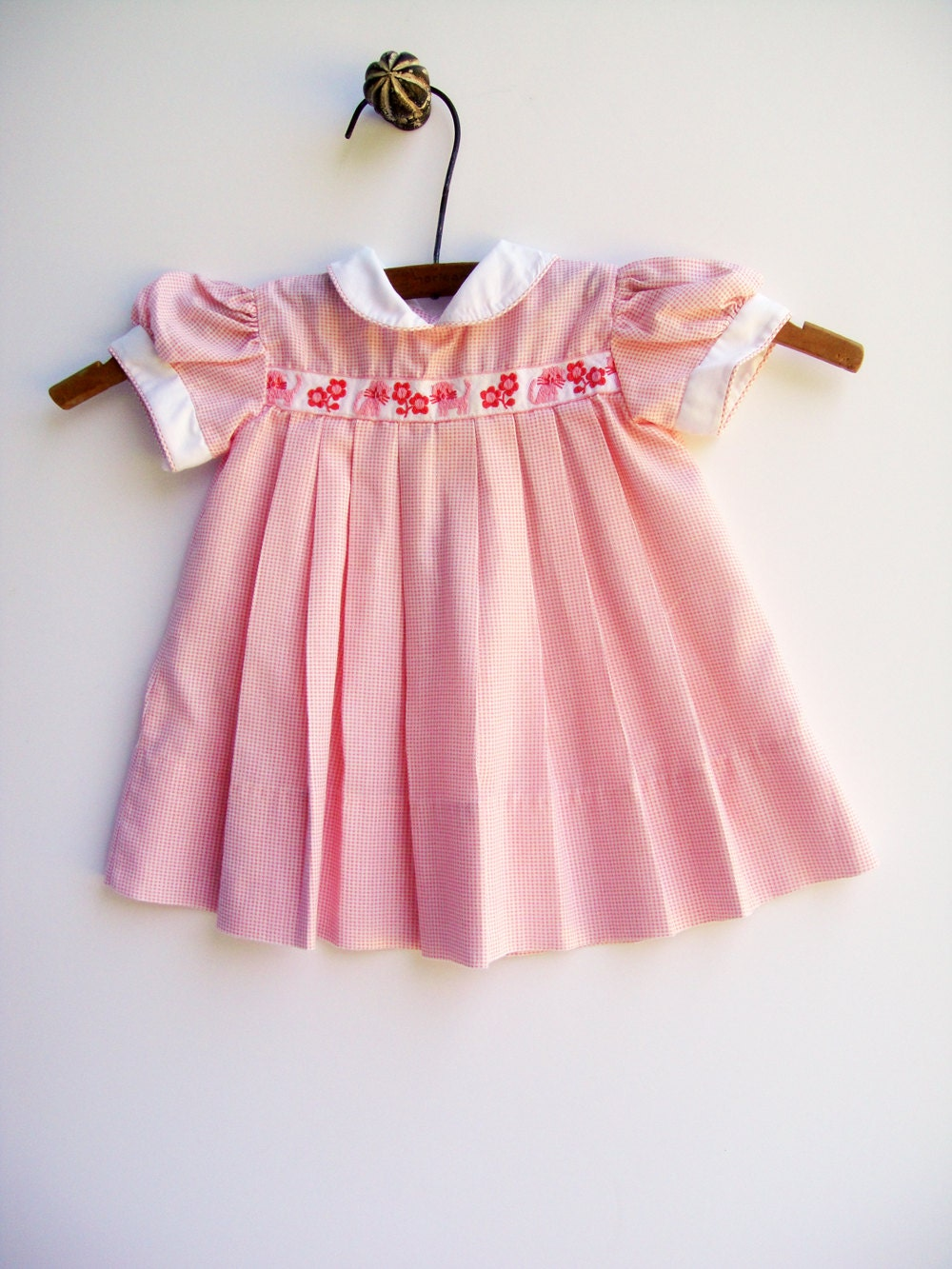 vintage baby dress vintage baby clothes pink by