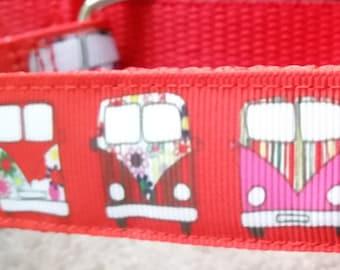 1 inch Side-Buckle Dog Collar - VW Camper Vans