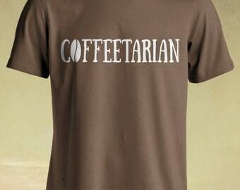 Coffeetarian Tshirt , Coffee Addict shirt , Caffeine Addict , Funny Coffee T-shirt , Coffee Lover shirt , Caffeine t shirt , Need Coffee .