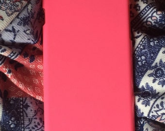 DIY hot pink hard plastic for iphone 6 case. for deco phone decoden and bling. strong plastic pink casing