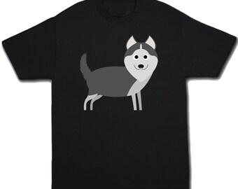 Kids Siberian Husky Shirt - Funny Dog Shirt - Huskies - Pet Lover - Childrens Dog Gift - Pet Tshirt - Animal Shirt - Dog Lover - Dog Clothes