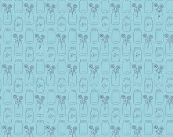 Modern Minis Aqua Mason Jars by Lori Holt for Riley Blake Designs