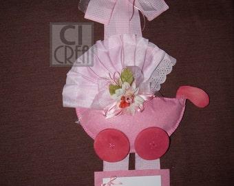 Birth  wreath pink or blue