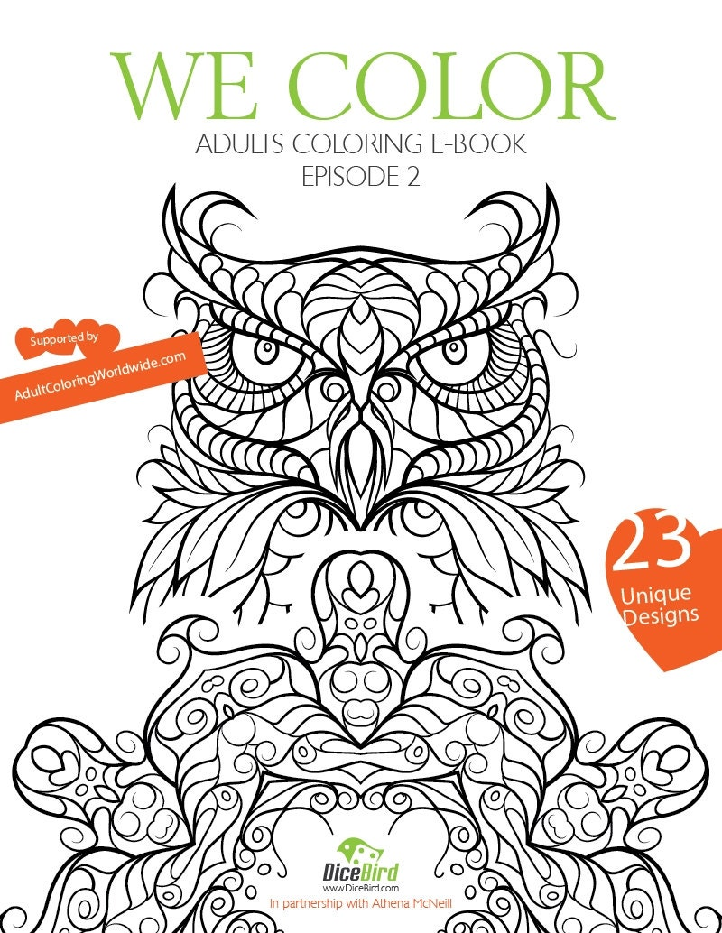 WE COLOR Adult Coloring E Book 23 Designs Flowers Mandalas