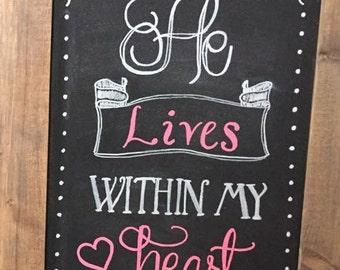 Custom Christian Quote/Saying/Scripture Chalkboard