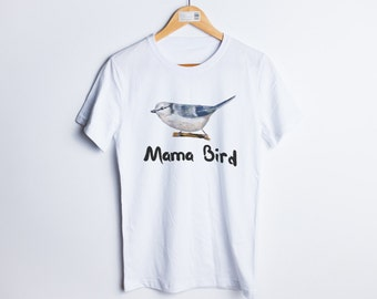 Mama bird shirt Mama bird tshirt Mama bird t shirt with flowers Gift for mother Mother to be Wedding gift Gift for sister Mothers gift