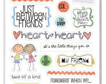 Me & My Big Ideas Glitter Stickers Value Pack Friends For Life