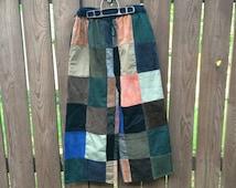 patchwork corduroy pants - Pi Pants