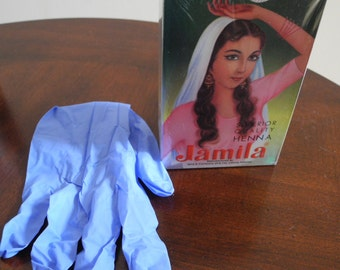 2015 Jamila Henna Body Art Quality for skin tattoo and hair color + Free Gloves - Fresh Crop- Expiry 6/2018