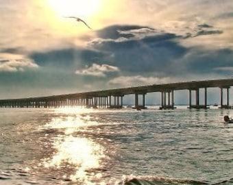 Destin's Sunset,Destin Bridge, Fine Art Photography, Nature Photography