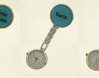 Handmade watch for nurses with own name
