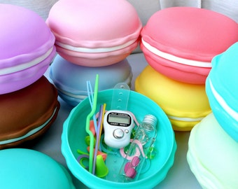 French Macaron Notions Case - Cute Storage for Knitters and Crocheters - Eight Colors Available!
