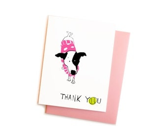 Thankful Terrier Greeting Card Set, Jack Russell with Tennis Ball Thank You Notes Boxed Set, Dog in Sweater