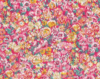 Chive, Liberty Tana Lawn Fabric, Liberty of London, Liberty Japan, Cotton Print Scrap, Chic Floral Design, Quilt, Patchwork, kt9003g