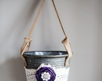 Rustic Flower Girl Bucket