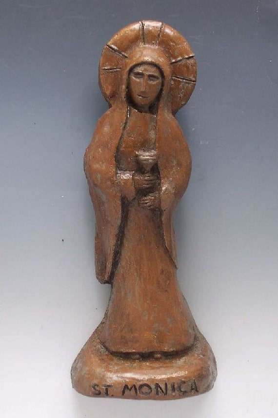 Handmade St. Monica Statue: Patron of Mothers of Difficult Children