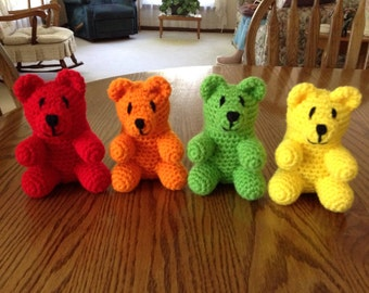 Crochet Gummy Bear, Made to Order