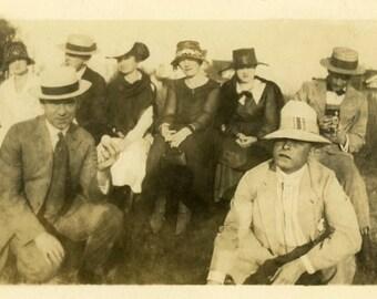"Vintage Photo ""Unhappy Travelers"" Camera Snapshot Photo Antique Photo Black & White Photograph Found Photo Paper Ephemera Vernacular - 10"