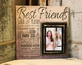 Personalized Best Friends Picture frame, Personalize Picture Frame, Sister Gift, Gift Best Friend, Wedding shower gift, Bridesmaid gift
