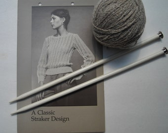 Vintage Straker Design Pattern, Knitting Sweater Pattern, Penny Straker Original Pattern, Pullover Sweater, MacTavish, 834, Winged Eyelet