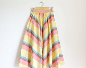 Vintage candy full skirt /yellow /pink