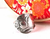 Antique Spoon Ring, Size 11, Sunkist 1910