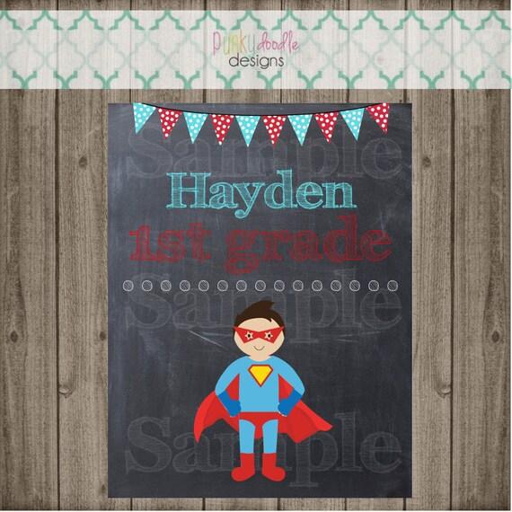 Superhero Binder Cover Folder Cover DIY Back To School