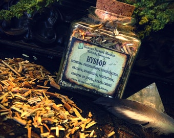 HYSSOP HERB JAR, Dried Loose Herb, Herbal Apothecary