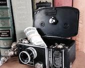 Secret Box, Stash Box repurposed from Authentic Vintage Paillard-Bolex 8mm Movie Camera