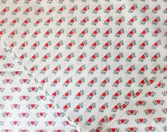 "Country Calico Fabric,  2 5/8 yd x 45"", Country Heart Cotton Fabric, Wamsutta OTC Fabric"