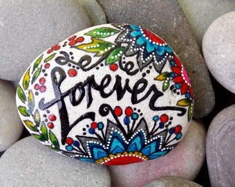 Forever / Always / painted rocks / painted stones / rocks / sea stones / Sandi Pike Foundas / Cape Cod / art rocks /