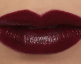 "Vegan Lipstick - ""Dahlia"" (rich dark burgundy red lipstick) goth lip tint, balm, lip colour mineral lipstick"