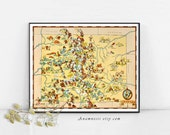 COLORADO MAP - Enhanced High Res Digital Image Download - picture map for framing, totes, pillows & cards - fun vintage wall and wedding art