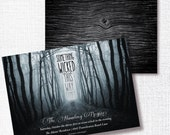 SOMETHING WICKED This Way Comes Halloween party invitation adult halloween cocktail costume party goth