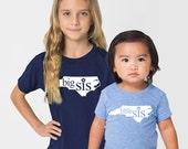 All States 'Big Sis' or 'Little Sis' Tri-Blend Infant, Toddler, Kids, Youth Big Brother Big Sister T-Shirt
