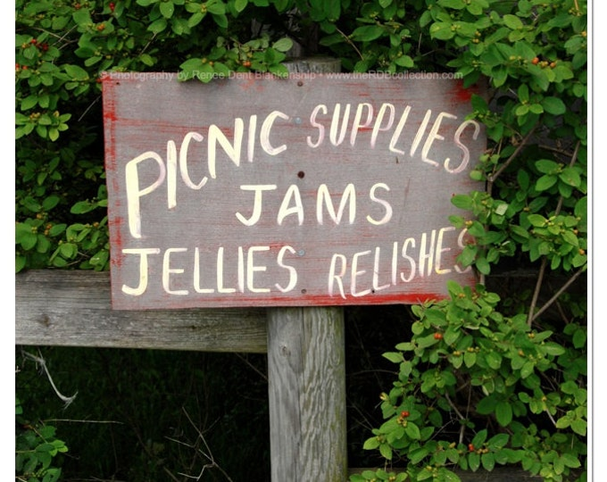 Jams & Jellies Sign Photograph