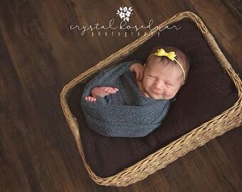 Yellow Headband. Infant Headband. Newborn Bow Headband. Sunny Yellow. Newborn Headband.