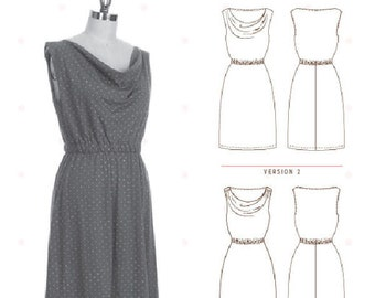 Dress Sewing Pattern - Colette Patterns - Myrtle Dress Women's Dress pattern with variations - Size US XS-3XL