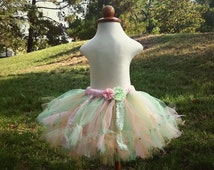 Mint, Gold, Light Pink Pettiskirt Tutu Skirt, Vintage Style for Toddlers, Babies, Girls