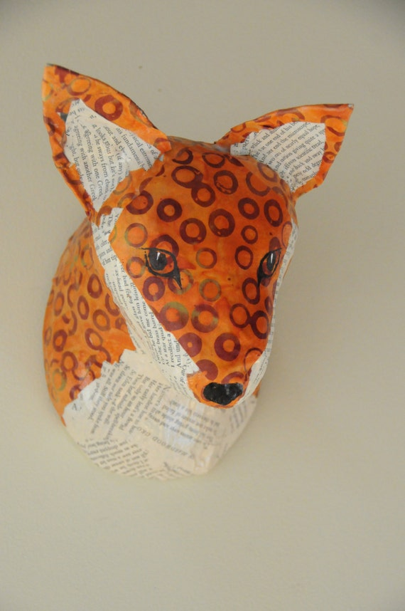 Paper Mache Animal Headfaux Taxidermy By Blueroosterarts