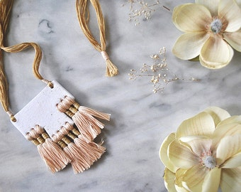 Cienega Clay + Tassel Necklace