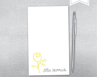 Flower notepad. Personalized Notepad. Teacher gift. Gift.