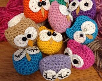 Amigurumi Owls crochet owls. Keyrings, bag charms, handmade owls gifts