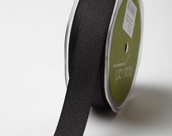 "3/4"" Black Grosgrain Ribbon from May Arts - 5 Yards"